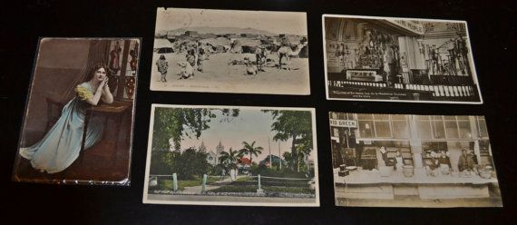 5 vintage/antique postcards.  Dates that can be made out range from 1909-1937.  These are used - most have writing, stains and/or small tears.  Included with these postcards are 3 vintage/antique photos.  Great for art/craft projects or collections.    *if shipping is less than quoted, we will refund the difference if over $1*   Shop this product here: https://spreesy.com/collectitorium/75   Shop all of our products at https://spreesy.com/collectitorium      Pinterest selling powered by…