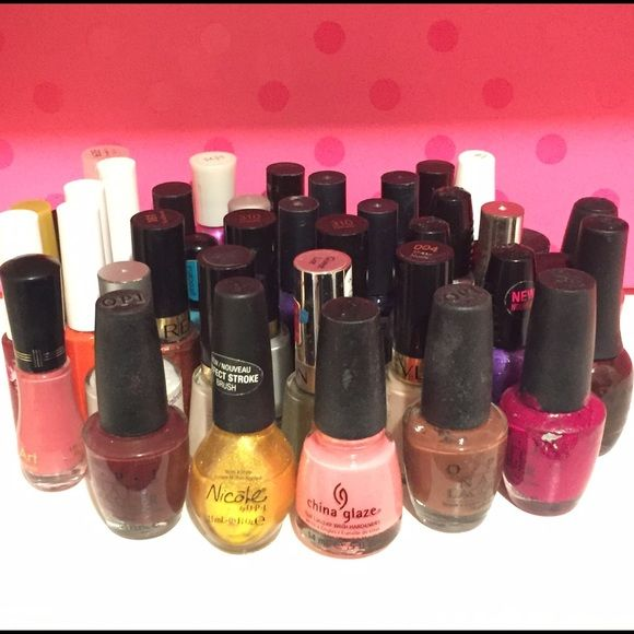 ‼️ SALE: BOGO FREE ✨ Nail Polish Bundle 39 Nail Polishes IN TOTAL ‼️ & WILL PROVIDE COTTON BALLS ✨  6 Nail Art (Far left, second picture) 33 Various Brands and Colors: OPI, China Glaze, Revlon, NYC, etc.   The majority of these are used and some have never been used; WANT to sell as a bundle; Easily over 100$ in nail polish here! Other