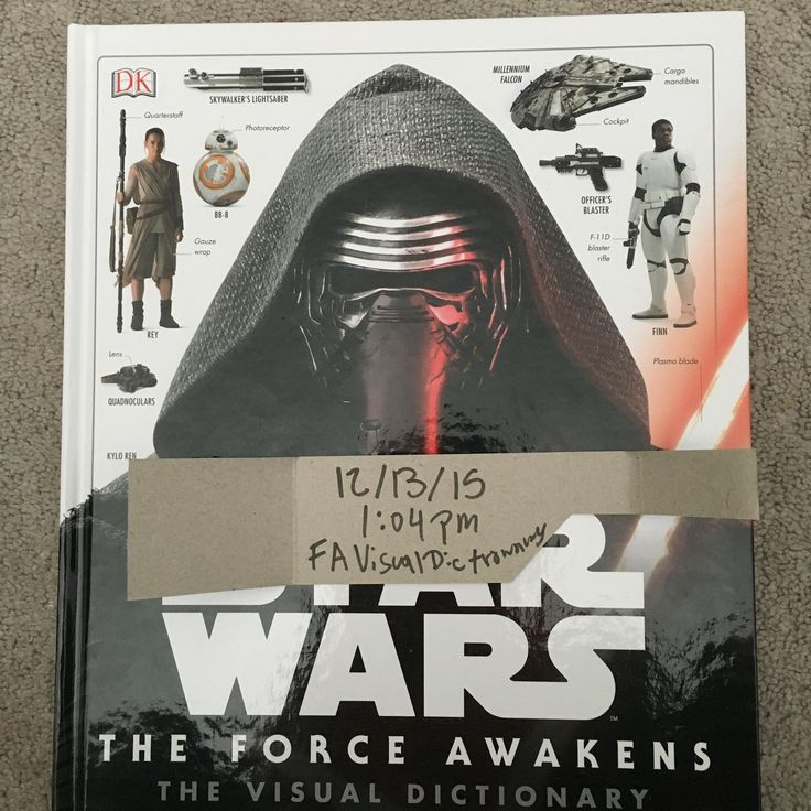 Star Wars The Force Awakens Visual Dictionary!! In English please!