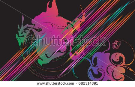 Abstract dynamic multicolored Electronic music festival background. For Summer Holiday Dance Event posters, invitation. Vector pop, hard style, jazz music wave gradient banner.