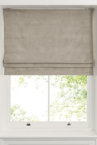 Buy Soft Velour Roman Blind from the Next UK online shop