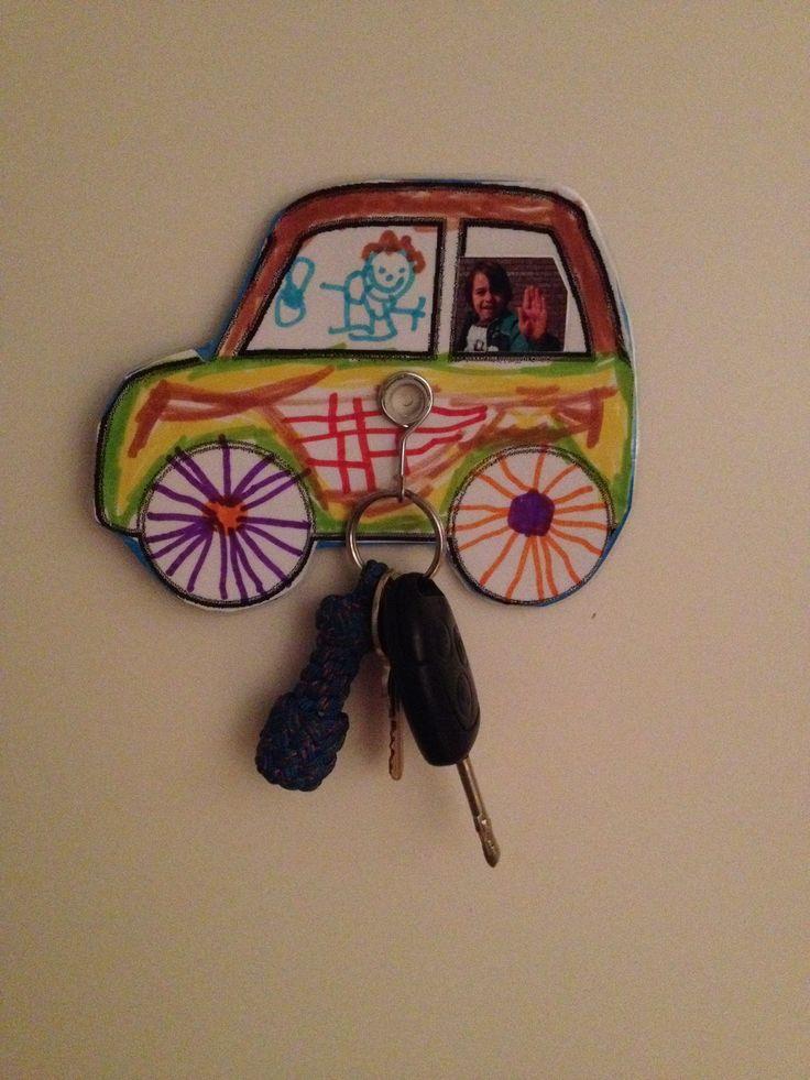 Vaderdag auto sleutelhanger