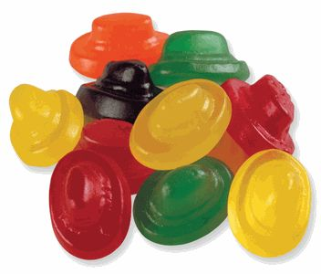 penny candy cowboy hats < I loved these and all flavors, except sometimes the green was mint or something did not like that.