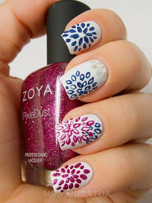 manicurator: Zoya Pixie Dust Fall 2013 - The Nail Challenge Collaborative: Nail Art Flowers