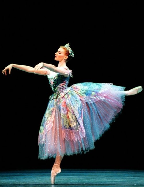 """Beautiful tutu. Stacy Lowenberg, corps de ballet, Pacific Northwest Ballet, in """"Cinderella""""; photo by Angela Sterling"""