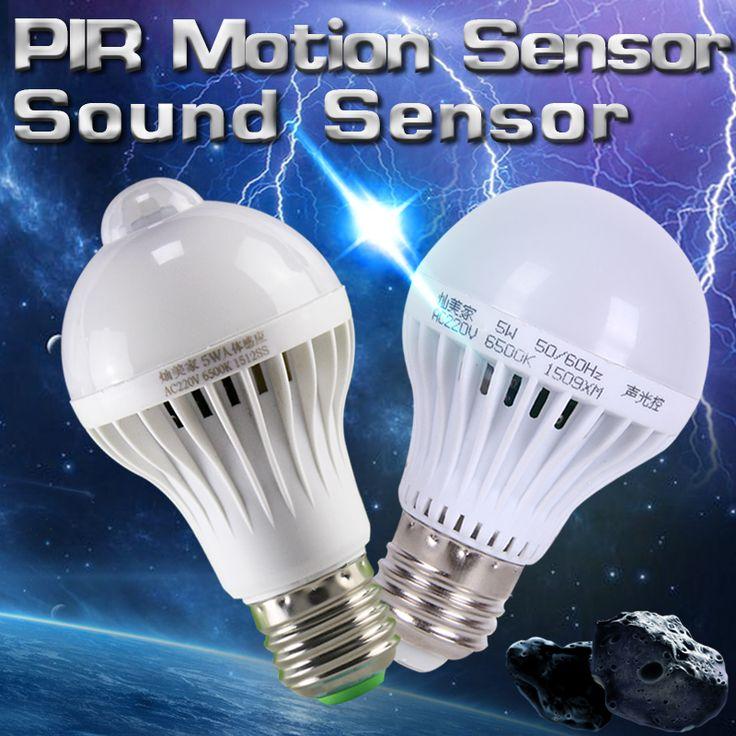 New Cheap led bulb Buy Quality led bulb directly from China led bulb Suppliers PIR Motion Sensor Lamp LED Bulb LEDs Auto Smart LED light bulbs Or Sound Voice