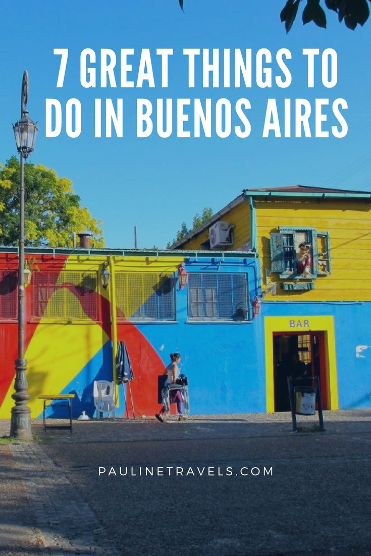 There are 3.004 million things to do in Buenos Aires as it is people. I only give 7 things to do in Buenos Aires: La Boca, Evita, Meat, Dulce de Leche, Palermo, Meat from Heaven and Wine from the grapes. Buenos Aires is the perfect city!