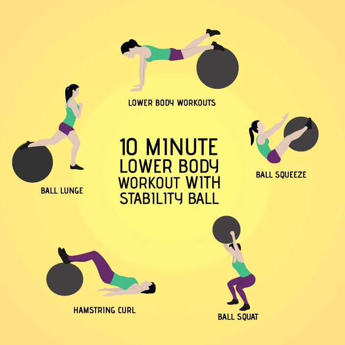 Stability Ball Glute: 10-Minute Stability Ball Workout To Tone Your Legs And