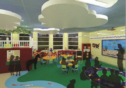 Colorful Decorating Themes for Preschool Classroom Layout Design Ideas