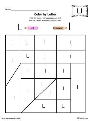 uppercase letter l color by letter worksheet memorial day letter worksheets letter l. Black Bedroom Furniture Sets. Home Design Ideas
