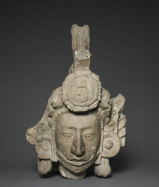 Head of a Young Noble, c. 750 Honduras, Copán, Structure 10L-22A, Maya style (250-900)