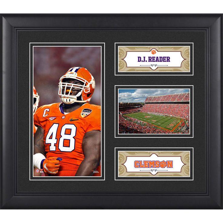 "Dj Reader Clemson Tigers Fanatics Authentic Framed 15"" x 17"" Collage"