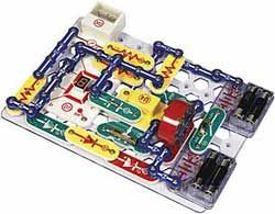 """Elenco's Pro Model SC-500, a Snap Circuit product (no soldering).  """"Has over (75) parts to snap (no soldering) into a grid and learn electronics while building an AM or FM radio, digital voice recorder, burglar alarm, doorbell, and electronic games... ages 8 up to adult, it includes a well-written, graphically illustrated instruction manual. AWARDS: The National Parenting Center-Seal of Approval, Dr. Toy 100 Best Children's Products, Dr Toy Best Educational Products."""""""