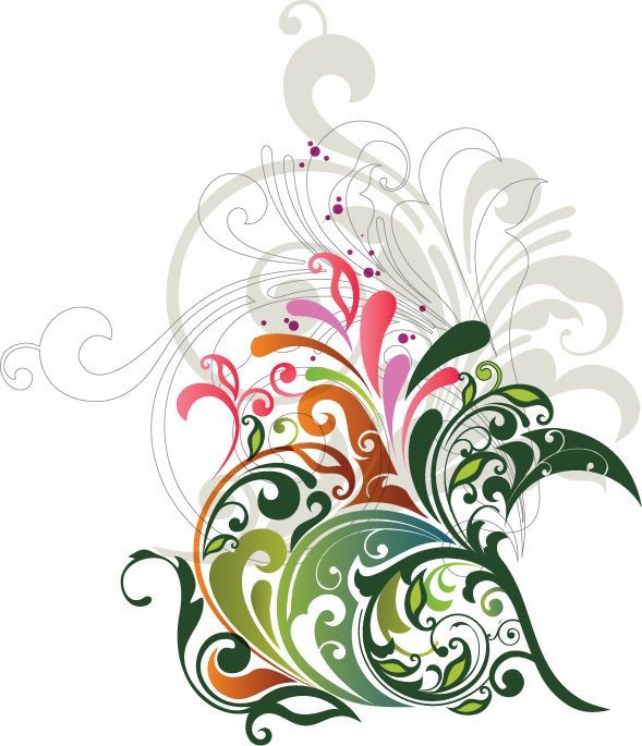 Abstract Designs | Vector Floral Design Element | Free Vector Graphics | All Free Web ...
