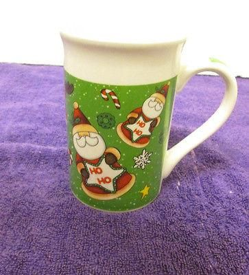 Vintage Royal Norfolk Santa Mug HO HO HO with Raindeer & Candy Canes 4 3/4""
