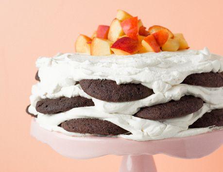 """Gâteau """"icebox"""" à la nectarine"""