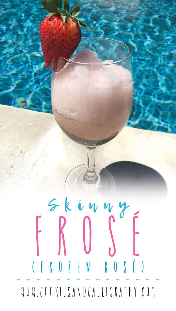 "SKINNY FROSE | It's frozen, pink, and really fun to drink! Frosé, or ""Frozen Rosé"", is the perfect cocktail for the hot days ahead, and the sweet taste of Rosé by the pool or outside on the patio with friends and family is the perfect way to celebrate Summer. We use our favorite Rosatello Rosé since it is sweet and full-bodied, so the flavor stays well when frozen. Lots of other Frosé recipes available add in sugar, calorie dense lemonade, more alcohol or fruit mixes. So, we decided to keep…"