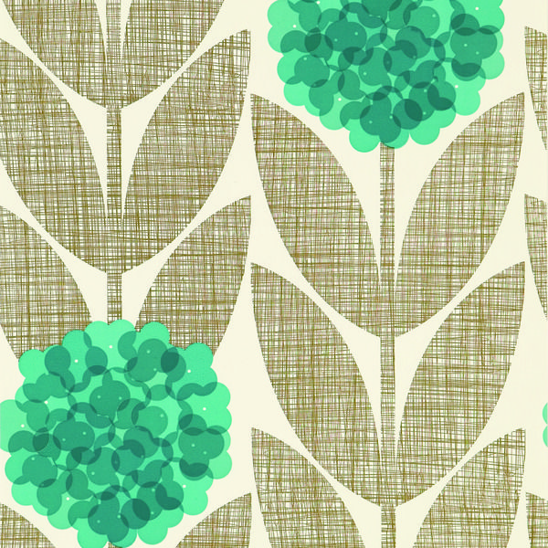 Flower Blossom Wallpaper  Orla Kiely