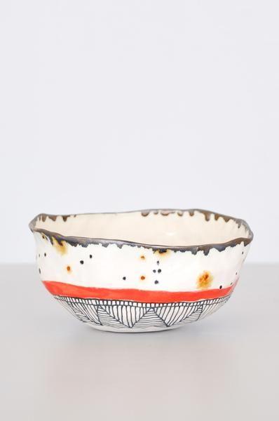 Speckled Bowl - Red