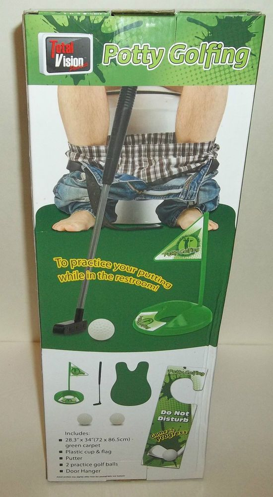 Golf-Lover Putting Game Funny Gag Gift Enthusiast Mat Set Potty Novelty Joke NIB #Totalvision