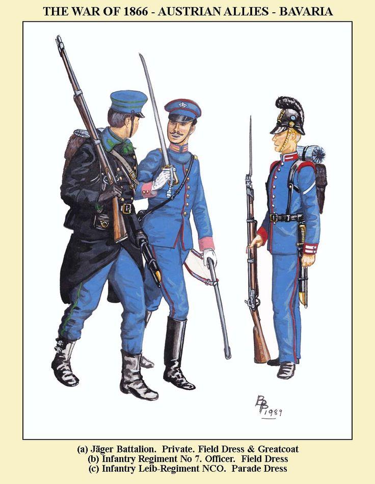 Bavarian infantry 1866