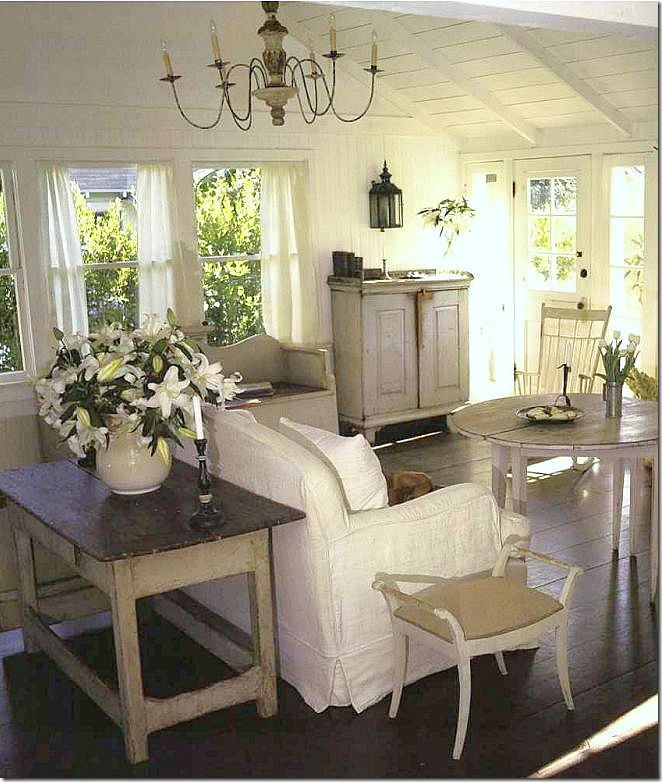 Country Cottage Living Room By Nancy Fishelson Note Floor And Ceiling Treatment