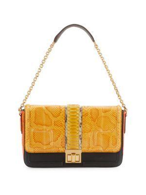 MCM Leather & Skin Shoulder Bag. #mcm #bags #shoulder bags #leather #
