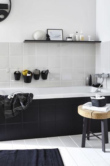 17 meilleures id es propos de banc de salle de bains sur for Carrelage ancien noir et blanc