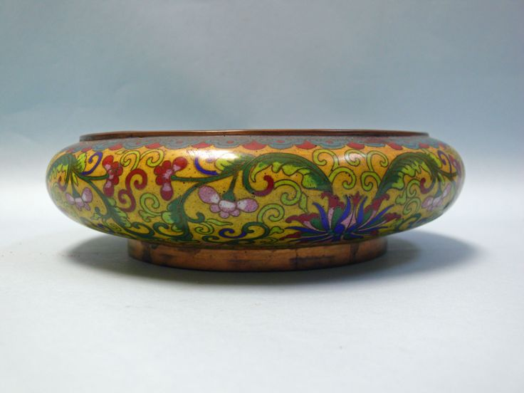 Antique Chinese Cloisonne Brush Bowl on The HighBoy