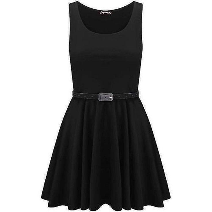 Momo&Ayat Fashions Women's Skater Dress Uk 8-10 (Eur 36-38) Black: Amazon.co.uk: Clothing