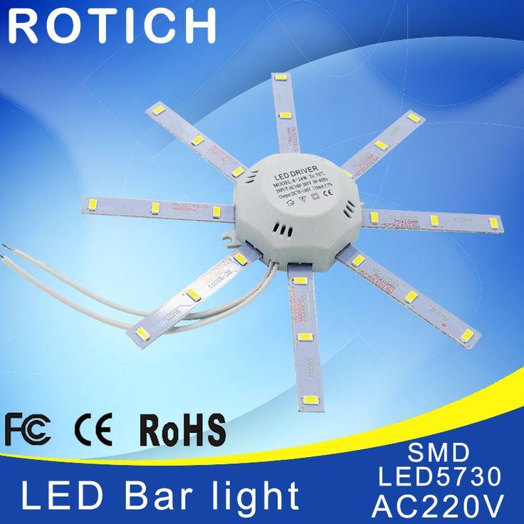 led lampada bombillas bulb bar light 220v high brightness  ampoule 12w 16w 24w tube Ceiling filament smd 5730 power supply luz #Affiliate