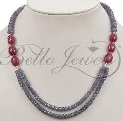 JEWELRY TANZANITE BEADED NECKLACES « Fashion Jewelry