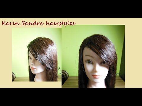Haircut tutorial | Side Swept Bangs (Fringe) | Coupe longue frange côté | Franja lateral - YouTube