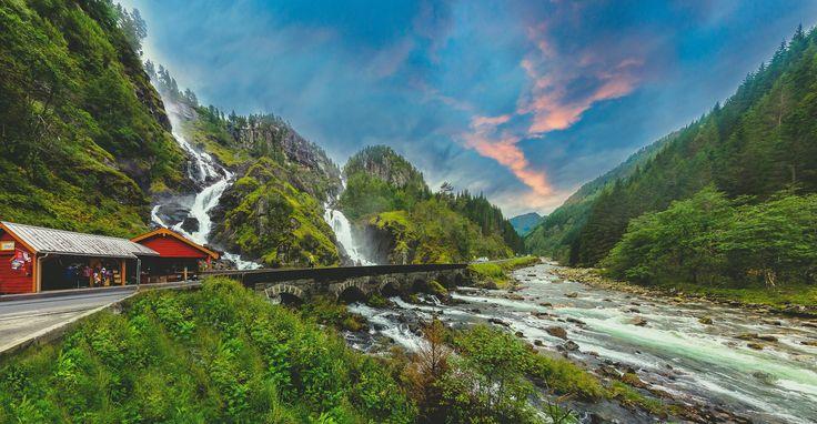 The Majestic Låtefoss Norway by Aziz Nasuti on 500px