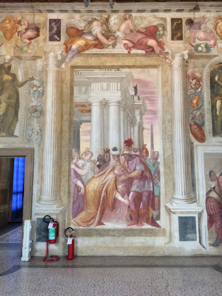 Stanza di Sefonisba. Affreschi di G.B Zelotti. Villa Caldogno (Caldogno, Vicenza). ☀️☀️☀️☀️