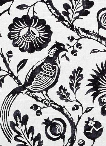 durham black white 295 duralee fabric 100 cotton slub duck jacobean floral