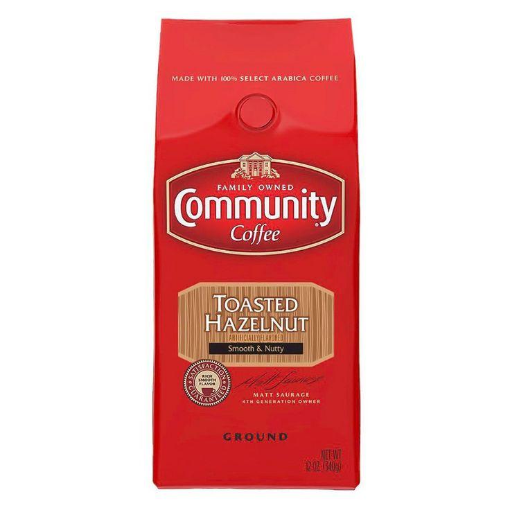 Community Coffee Toasted Hazelnut Medium Dark Roast Ground Coffee - 12oz