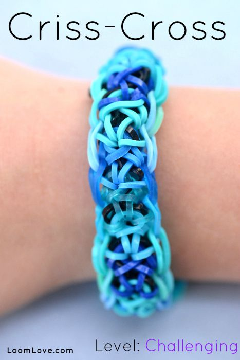 How to Make the Criss Cross Rainbow Loom Bracelet