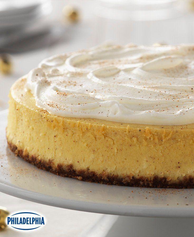 Classic Eggnog Cheesecake #recipe