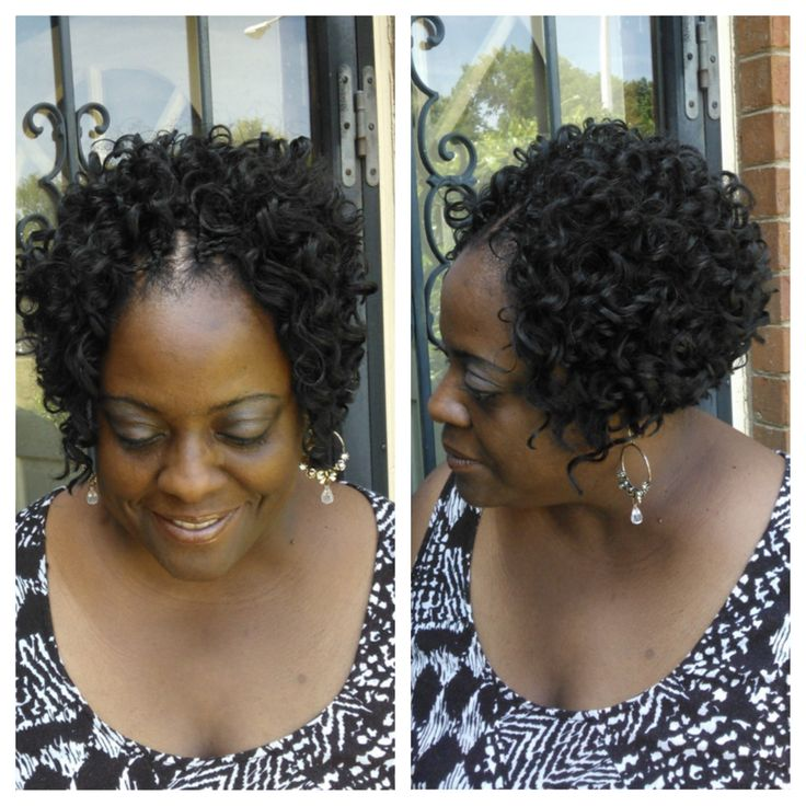 Crochet Braids Using Freetress Hair : Crochet braids with Freetress Presto Curl Crochet Braids