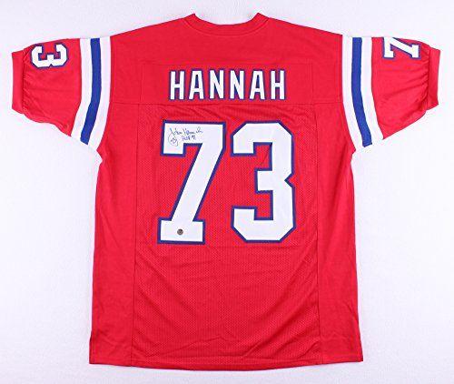 John Hannah New England Patriots Authentic Jerseys