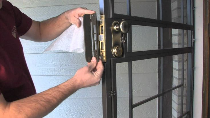 Security Screen Door Hardware