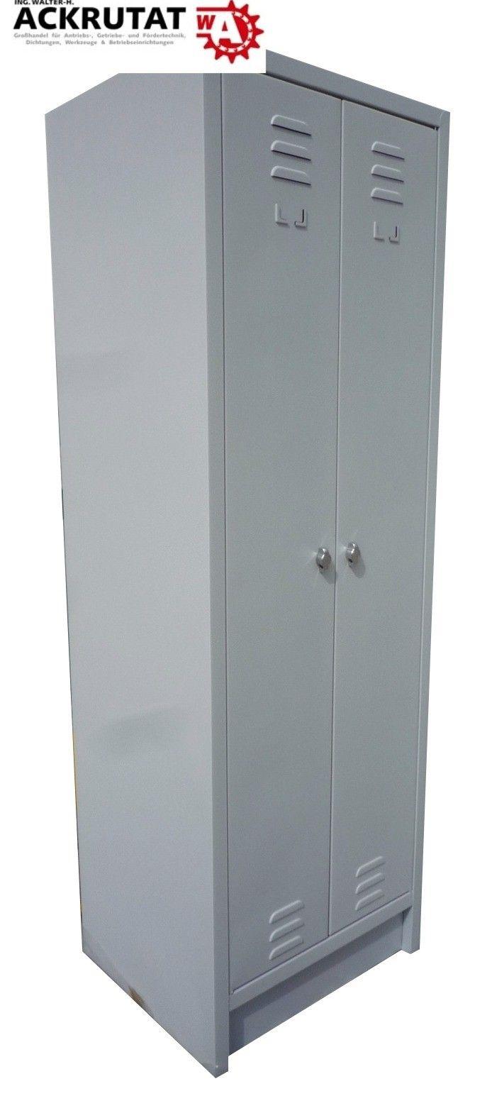 Kleiderspind Spind Garderobenschrank Schließfach Grau 500 x 600 x 1800 (TxBxH)