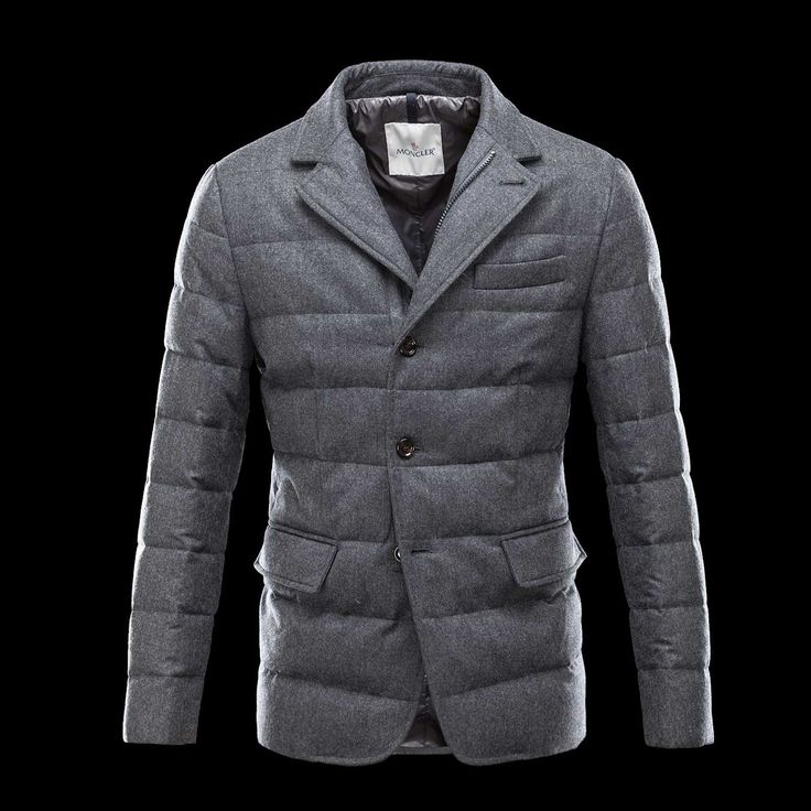 Moncler Outlet Rodin Men Steel Grey Flannel Down Jackets