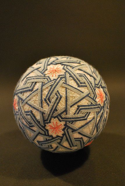 Temari, is a Japanese thread ball, which is a symbol of perfection. There is a long history about the weaving of thread to create this artwork.