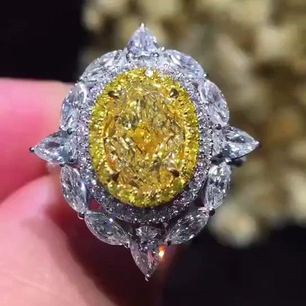 A 10 Carat Fancy Yellow Cushion Diamond Ring From Martin Katz S New Line Yellow Diamond Engagement Ring Colored Diamond Jewelry Yellow Diamonds Engagement