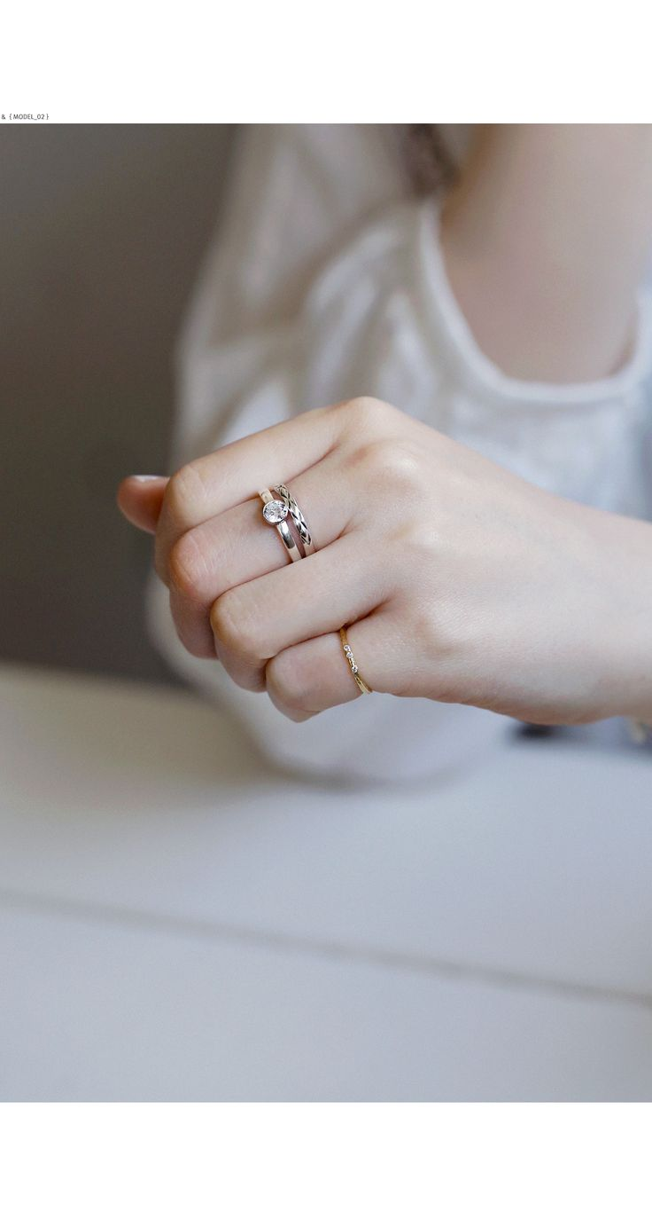 silver rings.  material : sterling silver (silver 925)