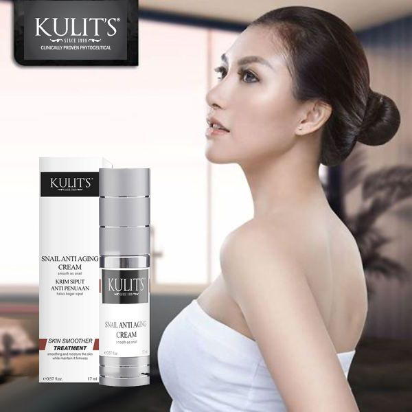 Kulit's Snail Anti Aging Cream - 17 ml - Krim anti wrinkle, anti flek, anti inflamasi berasal dari lendir siput. Menghaluskan dan melembaban kulit sekaligus menjaga kekenyalan - Line: @urbandepo WA: 0811890101 #beauty #cantik #kulits #skincare #antiaging #awetmuda #stayyoung #youngerskin #Smoothskin #kulithalus #BPOMApproved #QualityControlled #ClinicallyProvenPhytoceuticals #kulit's #kulitsskincare #kulitsehat #nomercury #naturalingridients #naturalskincare