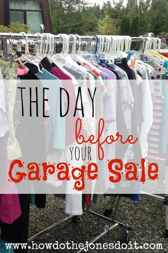 You have found a great location, joined forces with friends, signage is ready to go, price tags are waiting, and you are prepared to make change. What now?! It's the day before your garage sale and it's time to set up shop!