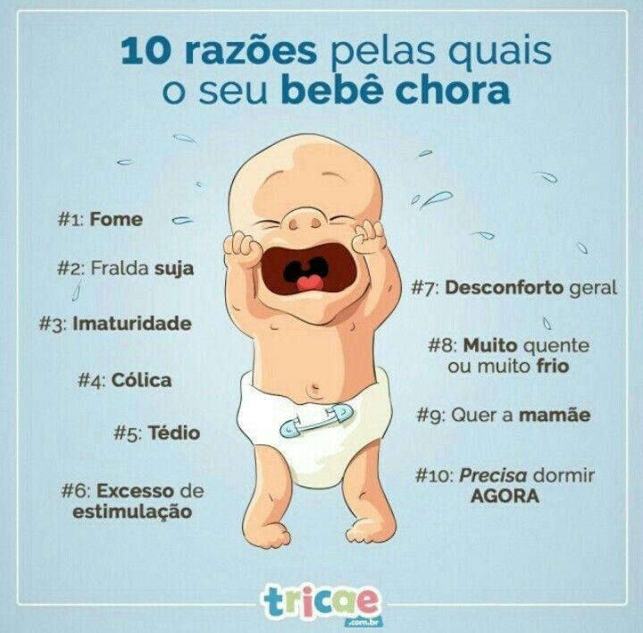 10 razões para o bebê chorar